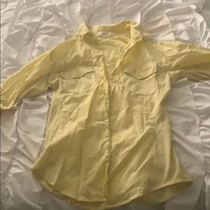 Beautiful yellow love tree dress up shirt !
